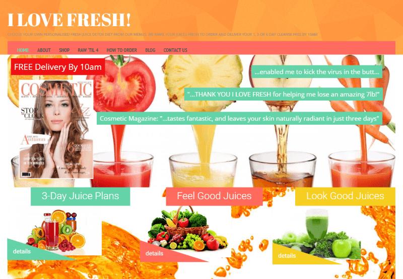 I Love Fresh Site